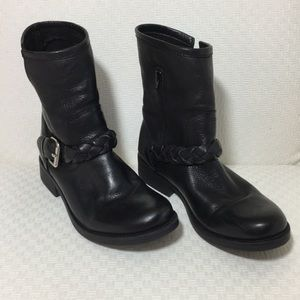 Steve Madden Black Leather Ankle Boots Sz 8.5